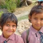 Happy school kids, Thakudwara