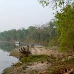 Jeep by the river, Bardia National Park, Bardia