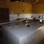 Tiled kitchen worktop, Bardia Eco Lodge, Bardia