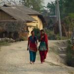 Two local girls chatting, Thakudwara