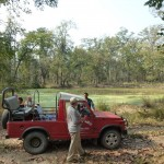 guests with the jeep, Bardia National Park, Bardia